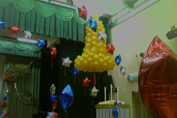Украшение воздушными шарами москва